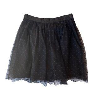 Moulinette Souers Pique Tulle Black Skirt Size 10